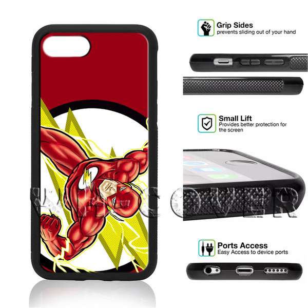 Flaş DC Superhero Barry Comics Interspace Adalet Ligi EF22 Telefon Kılıfı Için iPhone iX i8 i8Plus i7 i7 + i6 i6s SE T6 Kapak