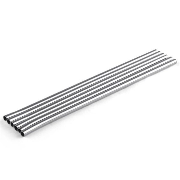 215MM length Durable Stainless Steel Straight Drinking Straw Straws Metal Bar Family kitchen