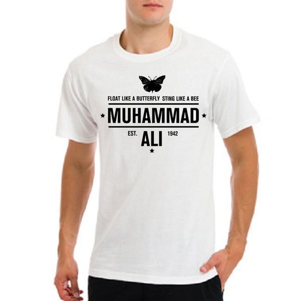 Muhammad Ali, Cassius Clay flota como mariposa picando como una abeja camiseta blanca Divertido envío gratis Unisex Casual camiseta