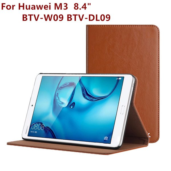 Fashion Leather Tablet PC Cover For Huawei Mediapad M3 BTV-W09 BTV-DL09 Stand Case 8.4 Inch Screen Protector Film Pen OTG Gift