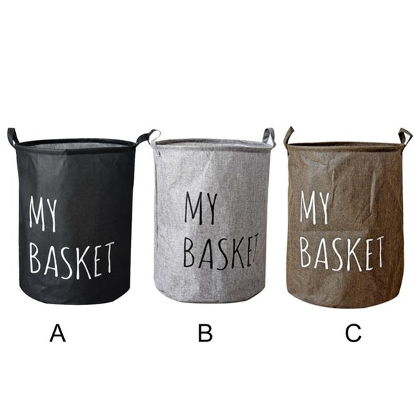 "New Large Laundry Hamper Bag ""My Basket"" Clothes Storage Baskets Home Clothes Barrel Bags Kids Toy Storage Laundry Basket"