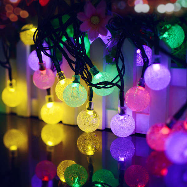 Cross-border for solar bubble ball 30 led twinkle waterproof outdoor electric lights series of the Spring Festival holiday decorations