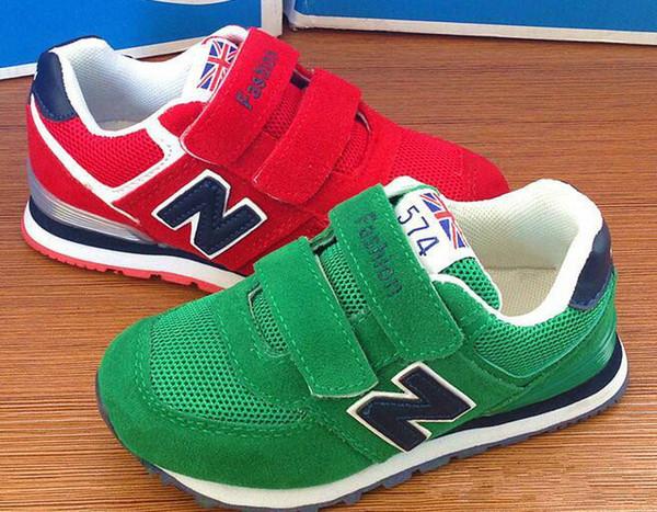 Flaş Satış Yeni Çocuk Spor Sneakers Ayakkabı Boyutu 25-37 Çocuk Eğlence Eğitmenler Rahat Nefes Çocuklar Koşu Ayakkabıları