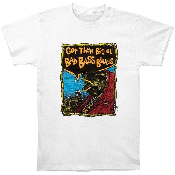 2018 nuevos hombres del verano de la venta caliente de moda Bad Bass Blues camiseta de los hombres tamaño S a 3xl estilo Vintage Tees manga corta divertido