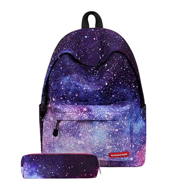 Women Canvas Backpack Stylish Galaxy Star Universe Space Backpack Girls Student New Fashion Durable Bag School Backbag