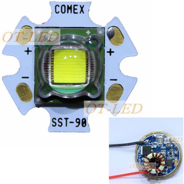 1 UNIDS Luminus SST-90 SBT-90 SBT 90 30W Emisor LED 2250LM Blanco 6500K Módulo PCB 20mm Cobre + SST-90 Tablero de controlador LED
