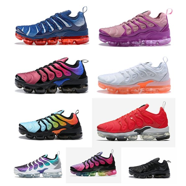 2019 Cheap TN Plus Mens women running shoes Game Royal orange BETRUE VM Plus trainers Sports Sneaker size 36-46