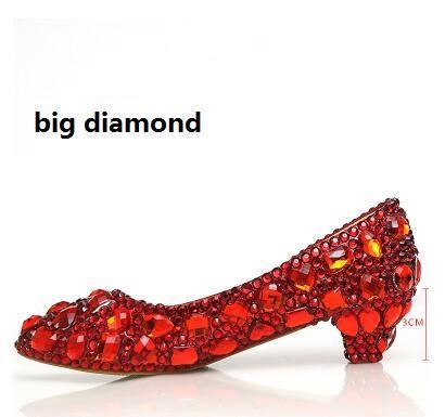 Red 3cm big diamond
