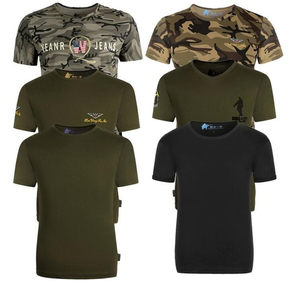 7 Styles Camouflage Men T-shirt Casual Round Neck Shirt Men Quick Dry Short Sleeve Summer Camo Clothing NNA212