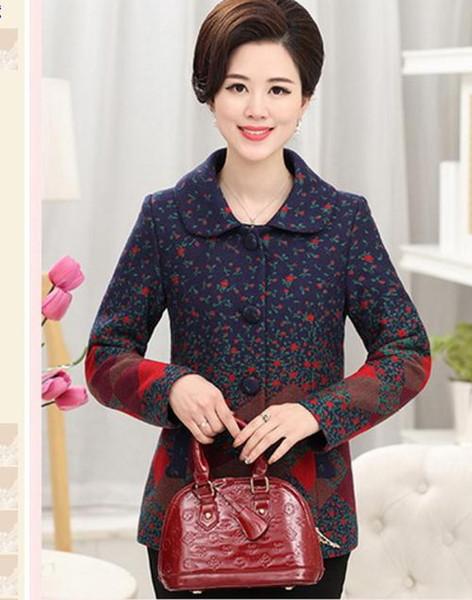 Moyen age et vieillesse Nouveau style manteau d'automne des femmes