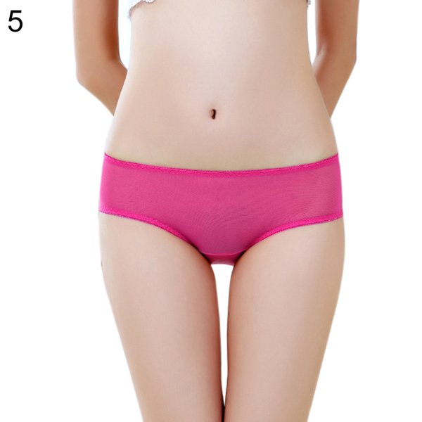 Women Sexy Breathable Solid Color See Through Panties Thong Briefs Underwear womens