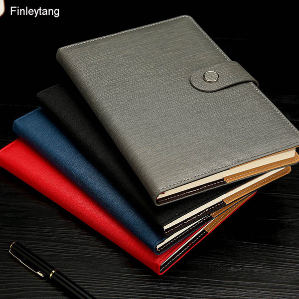 New Business Notebook Stationery Simple Style A5 Small Fresh Diary Notepad PU Leather Ten Colors Optional Office Supplies Gifts