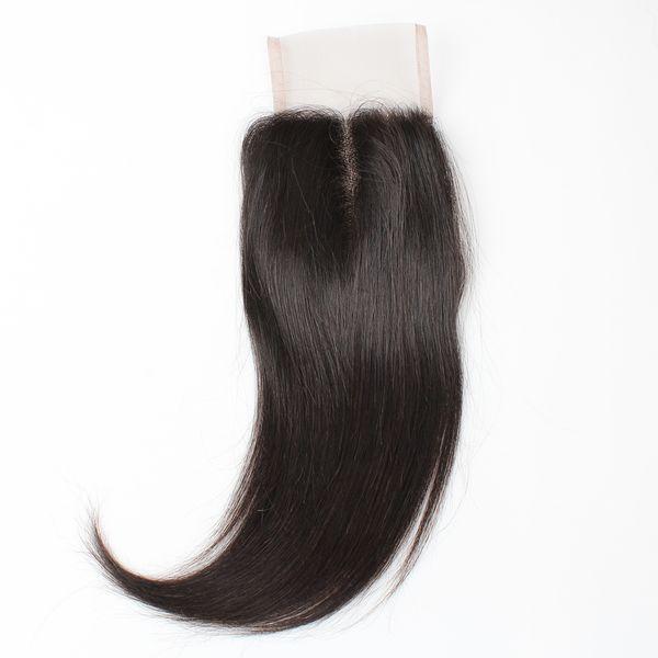 8A Straight Hair Closure 4*4 Swiss Lace Closure Virgin Human Hair Brazilian Peruvian Malaysian Indian Hair Free Middle Three Part