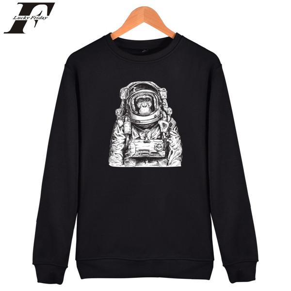 Space Orangutan Print Hoodie Women Harajuku Capless Hoodies And Sweatshirts HipHop Men Space Orangutan Clothes 4XL