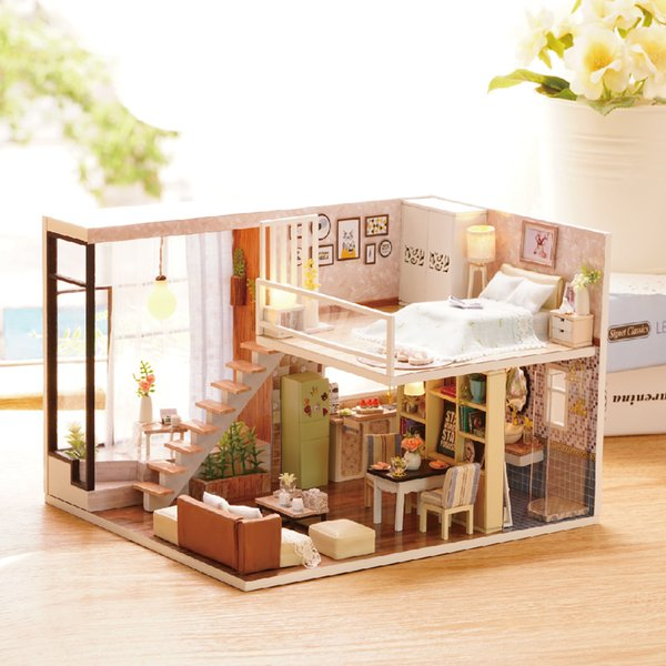 Miraculous Wholesale New Furniture Diy Doll House Wooden Miniature Doll Houses Furniture Dust Cover Kit Box Puzzle Assemble Dollhouse Toys For Gift Dollhouses Download Free Architecture Designs Ferenbritishbridgeorg