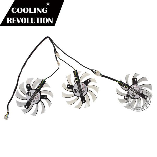 3PCS 75mm PLD08010S12HH Triple Fan Replacement 40mm 12V 0.35A 4Pin FOR GIGABYTE GTX760 GTX770 GTX780 GTX780TI HD7950 HD7970