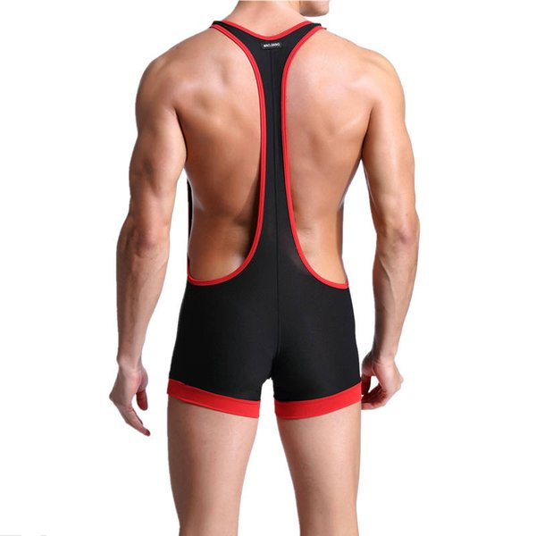 Men's Slim Shapers Stretchy Leotard Sports Wrestling Singlet Breathable Bodysuit Jumpsuit Sexy One Piece Tight Shapers Hot Sale