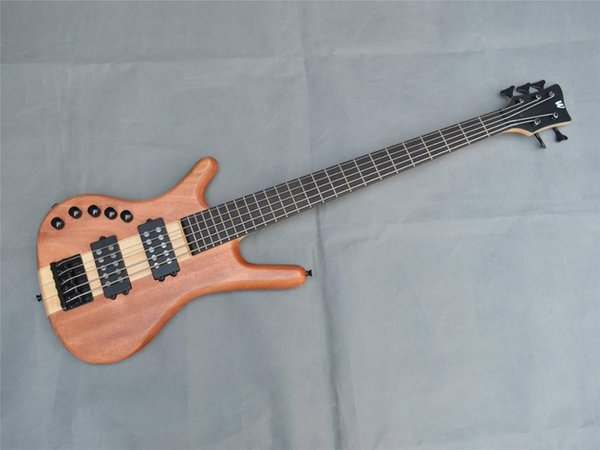 Top quality W 5 Strings active Electric Bass guitar,Custom shop Maple neck through body Electric Bass,Free shipping