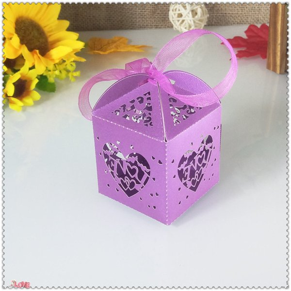 50pcs heart-shaped design wedding party candy gift box Christmas candy gift box romantic wedding decor holiday supplies 5ZT25