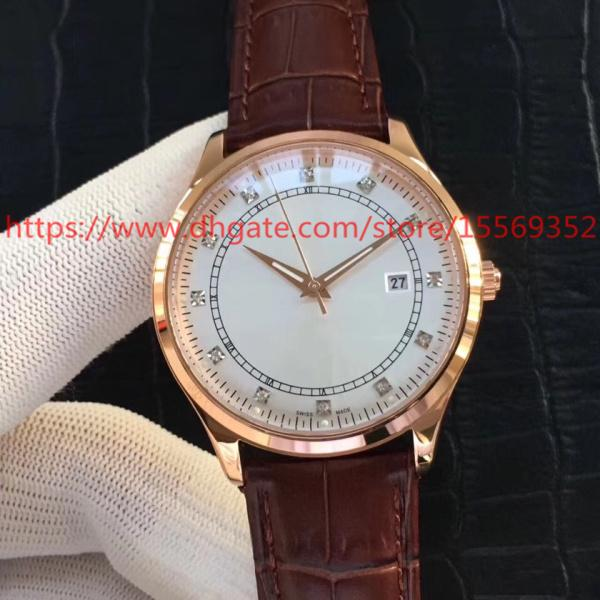 Luxury Fashion Classic Retro Precision Imported Advanced Automatic Machinery Calendar Waterproof Back Permeable Belt Men's Watch