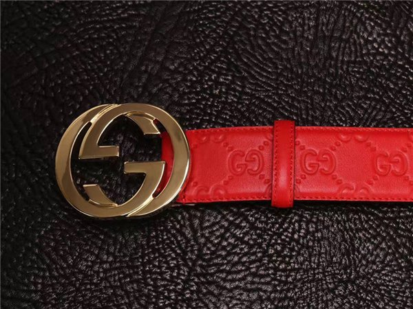 Men Designer Belts Hot Stripe Pattern Double Chain Buckle European Style Brand waistbands High Quality Real Leather with Box