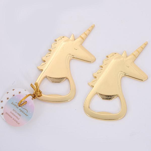 Creative Gold Unicorn Bottle Opener High Hardness Unicornio Shape Openers For Birthday Party Free DHL 854