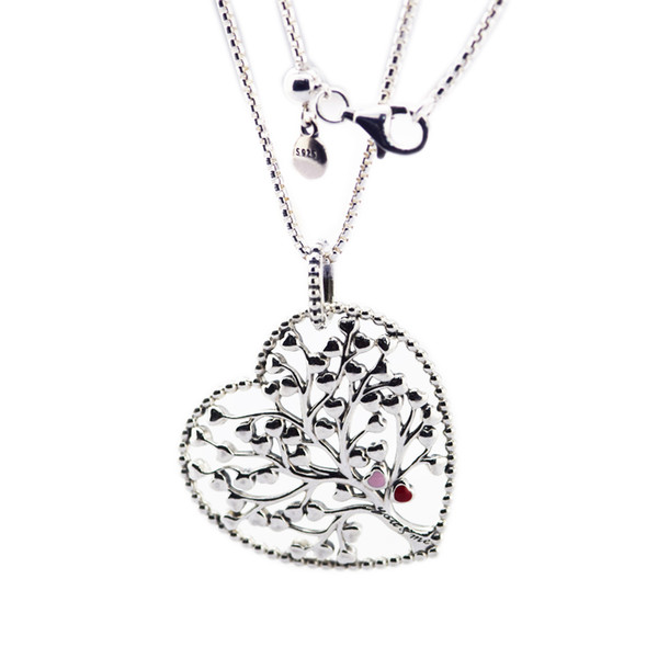 Valentine's Day Tree of Love Necklace 925 Sterling Silver Jewelry Necklace & Pendant For Woman European Jewelry Making