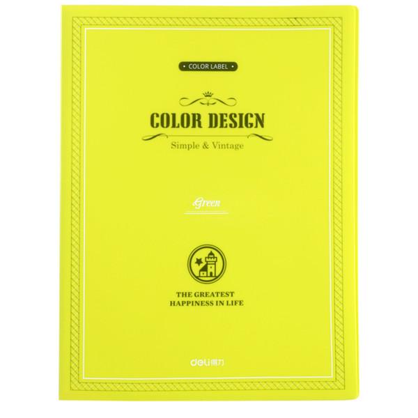 En gros-1 PC / PACK en gros Deli 5195 couleur Jinbao Wen a mis 40 dossier brochure 4 couleurs