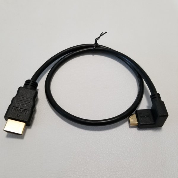 90 Degree Down Elbow HDMI A to Mini HDMI HD Data Transfer Extension Cable Gole-Plated Adapter for SLR Camera Tablet PC TV