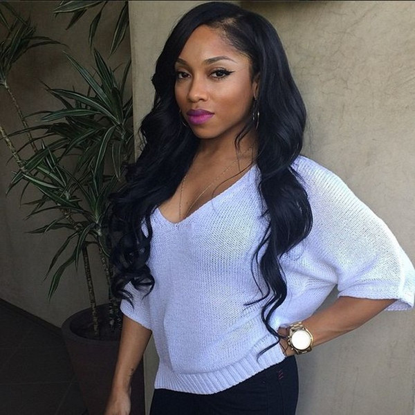 Body Wave Lace Front Wigs Pre Plucked With Natural Hairline Brazilian Virgin Human Hair Natural Color Full Lace Wigs