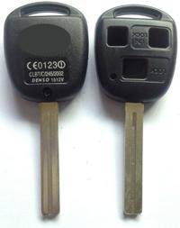 KL23 Replacement key shell for lexus remote control key case 3 button toy40 blade fob for Lexus RX GS IS ES GX