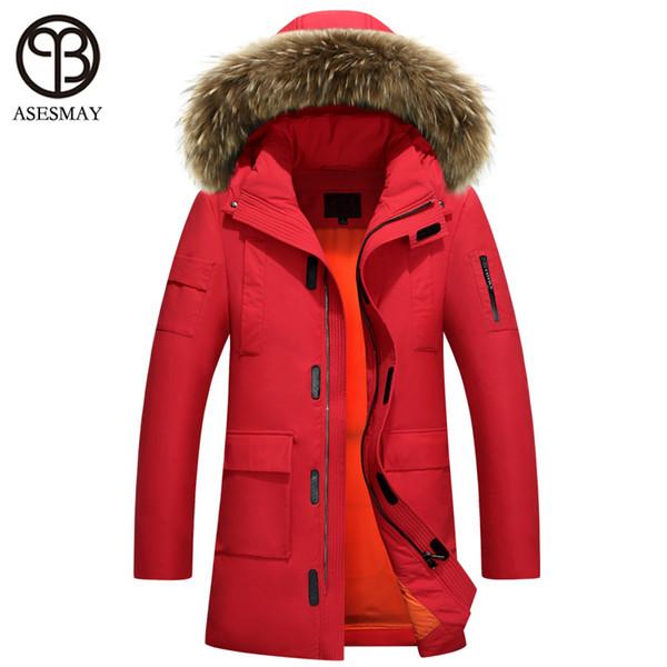 Asesmay winter jackets 2018 man luxury down jackets puffer jacket oversize parka millitary mens long parka waterproof male coats L18101102