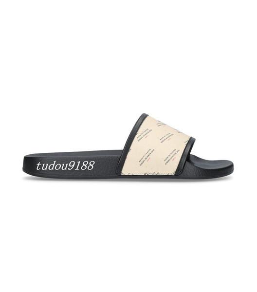 mens and womens fashion invite stamp print slides sandals slippers boys girls outdoor causal beach flip flops
