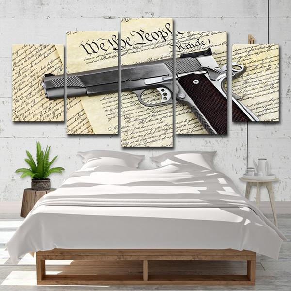 Acheter Mur Moderne Art Toile Affiches Hd Imprimé 5 Pièces Pistolet Peinture Au Pistolet Modulaire Abstraite Jouets Photos Décor à La Maison De 16 41