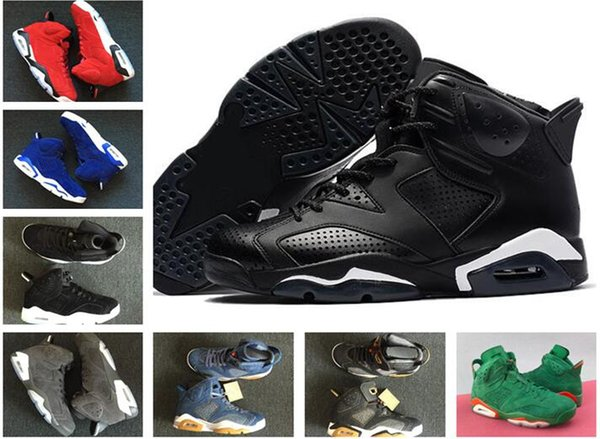Top 6 Basketball Shoes Men Navy 6s VI Angry bull Gym Carmine Cat Gatorade Harvest Heiress Chaussures Tennis Sport Shoe Sneakers