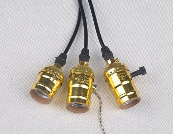 wholesale price E26/E27 Edison Lamp holder Screw Bulb Aluminum Shell Lamp Holder Retro Antique Lamp socket Holder Bulbs base promotion