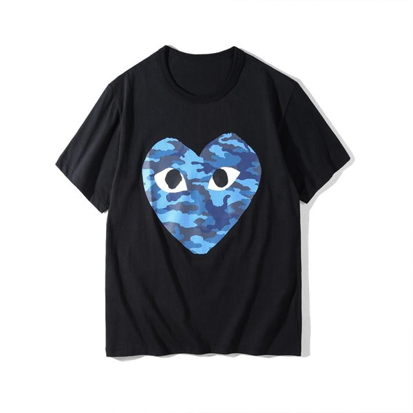 2018 Summer Clothing CDG Play Tshirts Justin Bieber New Love Printed Short Sleeved Men Women's Casual T-shirt Breathable Cheap Sale