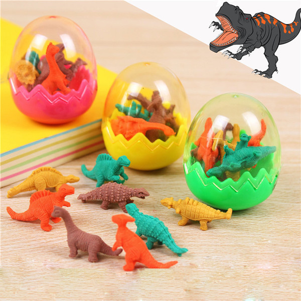 students animal erasers for kid stationary gift novelty dinosaur egg pencil rubber eraser great gift ing