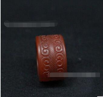 Velho Sul vermelho puxar dedo guerra Han Xiangmo ágata puxar anel de dedo anel de jade antigo jade anel ornamento