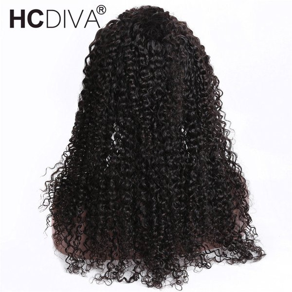 Virgin Indian Human Hair 360 Lace Front Wig Large Stock 10-24 Inch Kinky Curly Lace Wigs With Natural Hairline 130% Density Lace Front Wigs