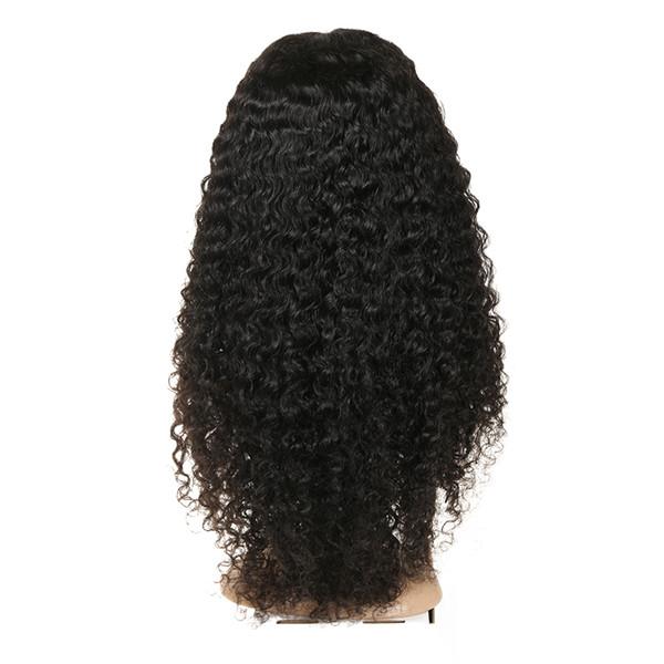 Perucas de cabelo humano de renda cheia Jerry encaracolado brasileiro perucas de cabelo humano para as mulheres preto pré arrancado
