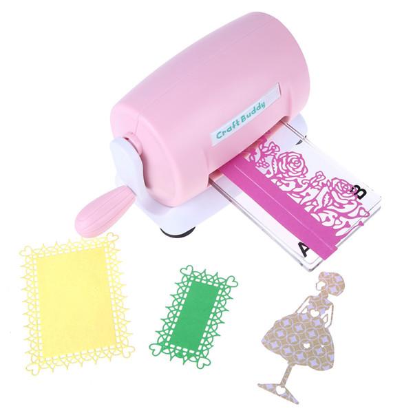 DIY Dies Cutting Embossing Machine Scrapbooking Dies Cutter Paper Card Die-Cut Machine Home Embossing Dies Tool Pink Purple free shipping