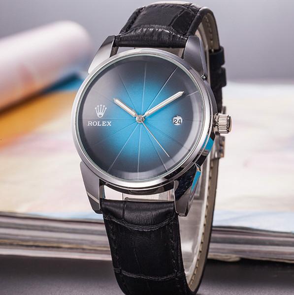 Cassa in oro 39mm in pelle di quarzo marca aaa mens di lusso orologi vendita calda casual giorno data uomini designer orologio da donna orologio da uomo regali orologio da polso