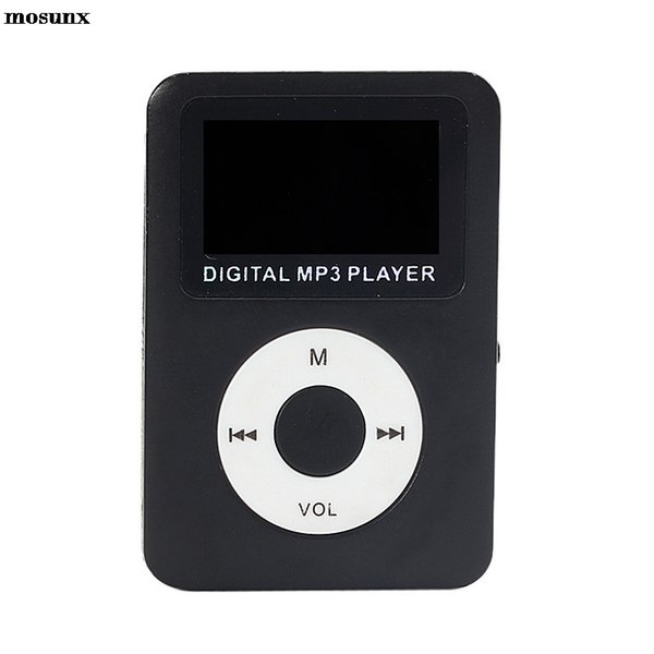 mosunx USB Digital MP3 Player LCD Screen Support 32GB Micro SD Card Fashion Mp3 Digital Music Player
