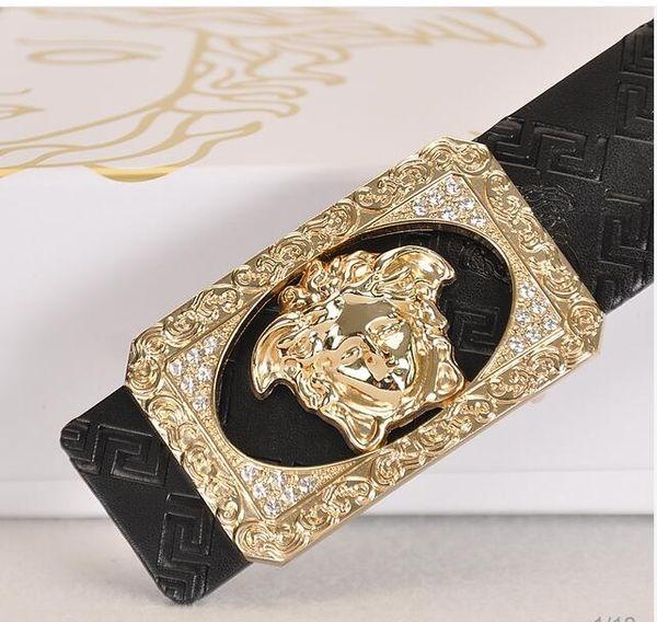 Cinturón de cuero para hombres letras de cuero cinturón de hebilla lisa 100 rayas casual envío gratis A1