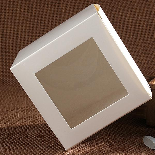 20pcs 11 sizes white craft paper window box,white package paper gift /candy /wedding favor box with clear pvc window