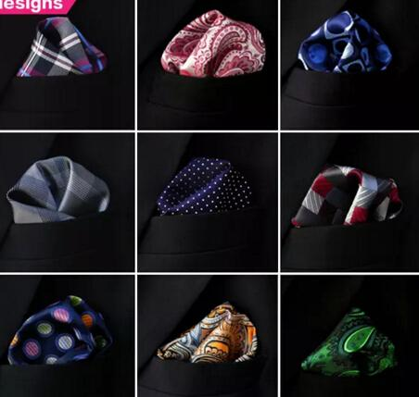Assortiti Taschini Mens Hankies Hanky Fazzoletto Large Size Accessorio Cravatte di trasporto libero Cravatte MOQ 20 pezzi