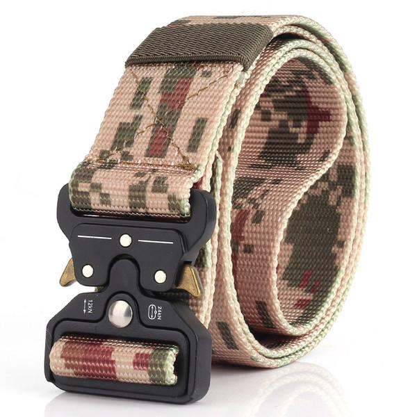 High Quality 3.8 cm Multi-functional Army Training Waistband Nylon Tactical Wasit Belt CS Duty Training Belt with Heavy Cobra Buckle