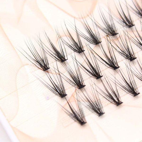 9-10-12mm Knot Free Synthetic Hair Korea Soft Black Individual Flare Eye Lash 60 Cluster False Eyelashes Extension DIY Makeup Set