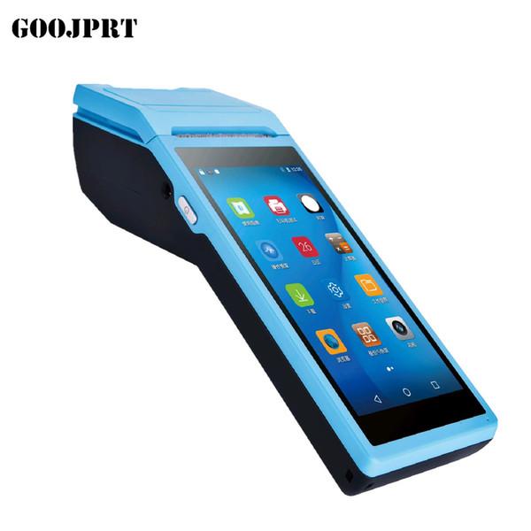 Envío gratis GOOJPRT Mini Pos impresora térmica Escáner de código de barras Terminal de mano POS inalámbrico bluetooth wifi Android PDA 3G Distribución